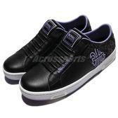 Royal Elastics 休閒鞋 Icon Z 黑 紫 白底 無鞋帶 皮革 女鞋【PUMP306】 92974996