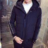 《澤米》加厚短款連帽棒球外套 2018冬季新款 韓版修身 帥氣有型 防風防水鋪棉外套(全館任二件