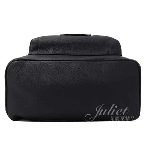 茱麗葉精品【全新現貨】COACH 32235 方塊壓印LOGO全牛皮雙層商務後背包.深藍