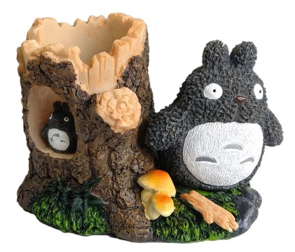 【卡漫城】 龍貓 筆筒 樹屋 Totoro 仿陶瓷 poly 材質 宮崎駿 公仔 桌上擺飾 豆豆龍 卡通 木材造型