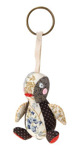 企鵝拼布鑰匙圈 10cm【Les Petites Marie】