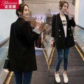 西裝外套 chic網紅小西裝外套女春秋新款韓版時尚寬鬆休閒小西服女上衣 新年慶