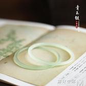 一世長安淺青色玉髓瑪瑙叮當鐲手鐲細條中國風漢風文藝氣質漢服 可然精品