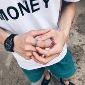 戒指男士個性復古麻繩指環霸氣學生禮物戒子開口