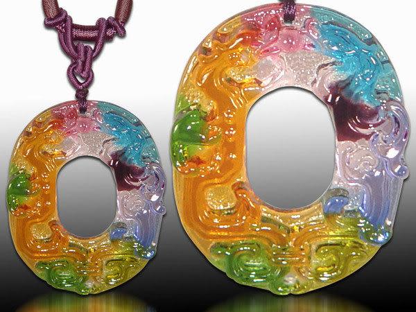 鹿港窯~居家開運水晶琉璃項鍊~如意雙龍◆附精美包裝◆免運費送到家