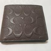 美國精品 Coach 經典馬車款 C Logo 浮雕 男夾 零錢袋設計  限時特價 $2860