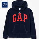 Gap女童logo拉鍊連帽休閒上衣511476-海軍藍色
