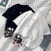 100%純棉短袖t恤男女寬鬆學生潮流韓版百搭大碼ins青少年半袖體恤 快速出貨