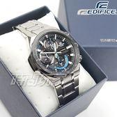 EDIFICE EQS-920DB-1B 立體感3D錶盤太陽能電力腕錶 不銹鋼 黑x藍 EQS-920DB-1BVUDF CASIO卡西歐