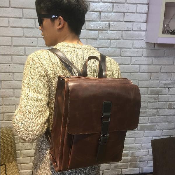 復古定型後背包 男雙肩書包【非凡上品】x359
