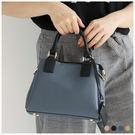 斜背包-知性多夾層配色手提/斜背方包-共4色-A03031427-天藍小舖