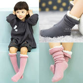 花邊拼接泡泡止滑中筒襪 童襪 荷葉邊 中長統襪