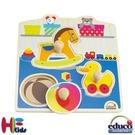《德國educo愛傑卡》可愛玩具木拼圖