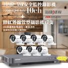 高雄監視器/200萬1080P-TVI/套裝組合【8路監視器+200萬管型攝影機*7支】DIY組合優惠價