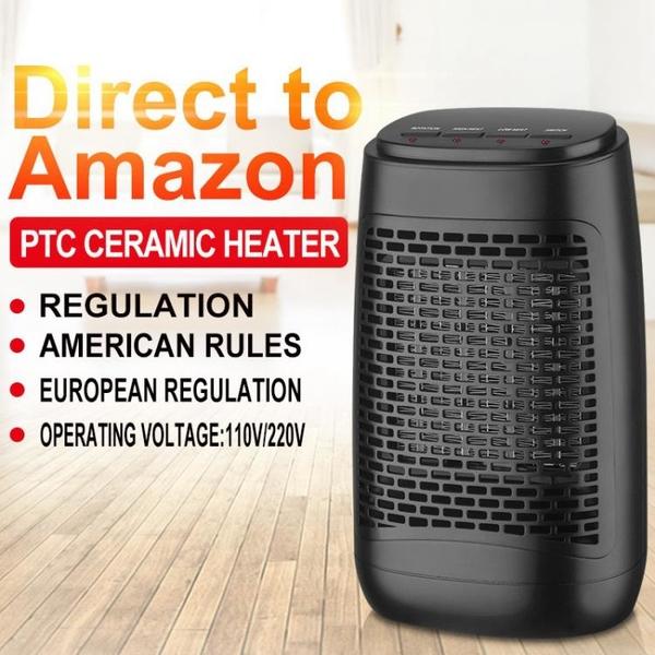 美規日規110v英規歐規電熱取暖器浴室速熱暖風機冷熱風扇搖頭三檔 1995生活雜貨