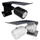 新款太陽能燈戶外感應庭院燈超亮LED家用仿真監控攝像頭路燈 js9304『科炫3C』