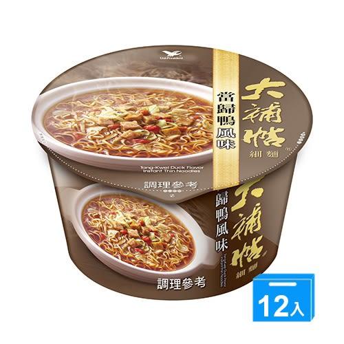 統一大補帖-當歸鴨風味細麵102g*12碗/箱【愛買】
