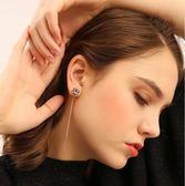 耳環女氣質韓國個性簡約百搭網紅耳墜長款時尚銀耳釘吊墜性感耳線-蘇迪奈