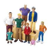 白人家族 Lakeshore兒童幼兒教具玩具遊戲 情境社會扮演家酒想像創造建構造型組裝玩偶積木模型