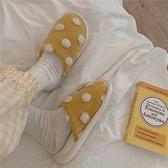 冬季新款ins居家室內地板保暖月子棉拖平底防滑可愛棉拖鞋女家用 童趣屋  新品