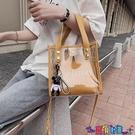子母包 學生透明果凍包包女新款潮韓版側背時尚斜背包百搭手提子母包寶貝計畫 上新