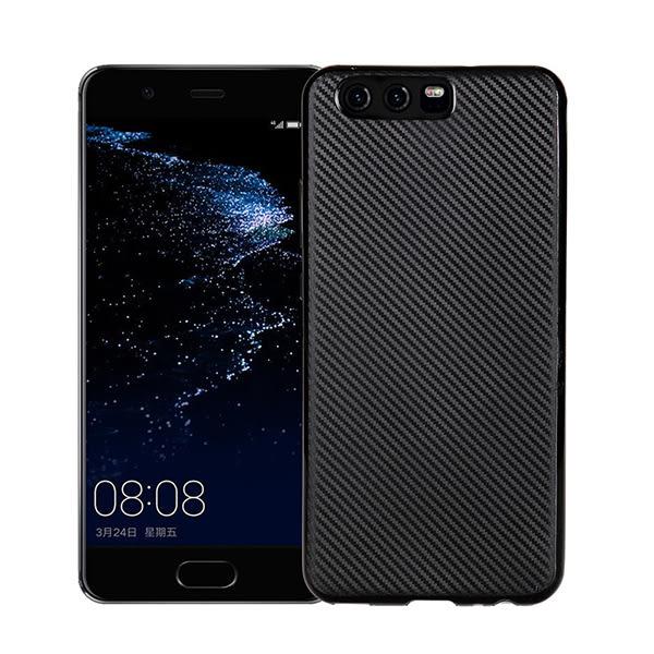 HUAWEI P10 Plus 5.5吋 碳纖維紋背蓋 矽膠手機殼 全包邊保護套 簡約手機套 TPU保護殼 軟殼 外殼