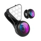 外置高清拍照手機魚眼廣角超級微距鏡頭15倍放大鏡專業拍攝補光燈 【618特惠】