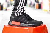 ISNEAKERS Adidas Originals NMD R1 Ripstop 黑紅 極致黑 男鞋 B37618