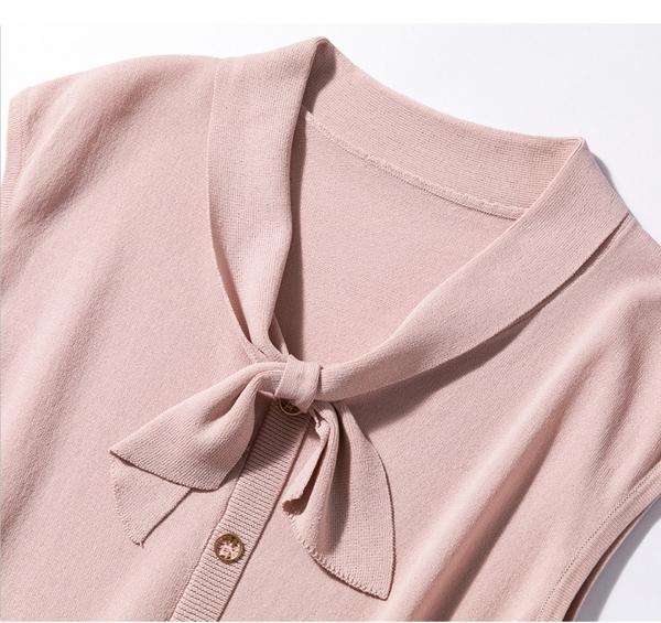 優雅蝴蝶結優雅針織衫上衣T恤【80-14-8F9280-20】ibella 艾貝拉