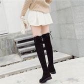 膝上靴女秋冬季新款韓版百搭平底長筒靴過膝