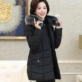2019新款中年女冬裝中長款加厚棉服40-50歲媽媽穿的羽絨棉衣外套
