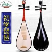 成人新款忘機琴木材質硬木學習民族樂器琵琶 DR25849【123休閒館】