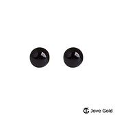Jove gold 漾金飾 純淨黃金/黑瑪瑙耳環