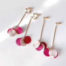 【NiNi Me】韓系耳環 氣質甜美花瓣樹葉耳環 夾式耳環 E0235
