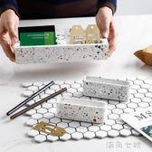 水磨石展會卡片架簡約名片座桌面個性創意商務收納大容量名片盒  海角七號