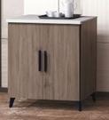【南洋風休閒傢俱】餐櫃系列- 可斯仿石面3尺功能櫃 櫥櫃 多功能櫃 收納櫃 置物櫃 CX841-2
