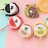 耳機可愛萌女生掛耳式 糖果色水果耳機耳掛式