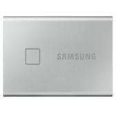 【限時至1011 登錄送600元禮劵】 SAMSUNG 三星 T7 TOUCH 500GB USB 3.2 SSD 指紋感應 外接式固態硬碟 時尚銀