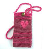 手編手機袋 / 紅心女王 (適用5吋以下手機)