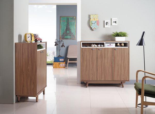 【森可家居】蘿拉4尺柚木鞋櫃 7JX268-4 木紋質感 日系無印 北歐風