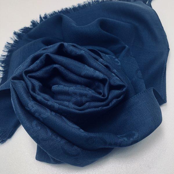 GUCCI全新真品 雙G緹花雙色 圍巾/披肩 (土耳其藍色) ~現貨特價