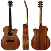 Neowood嚴選Swiftly OM-2C全桃花心木吉他-附琴套