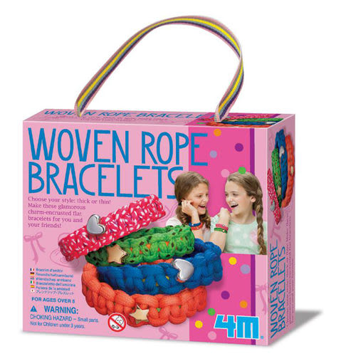 《4M美勞創作》 好朋友星星手鍊 Woven Rope Bracelets  ╭★ JOYBUS玩具百貨