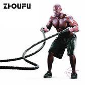 戰繩健身甩大繩UFC體能訓練繩MMA格斗繩粗繩肌肉繩力量訓練戰斗繩xw 快速出貨
