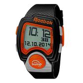 Reebok PL系列空中飛人電子運動腕錶-橘x黑