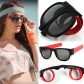 手扣式情侶墨鏡網紅折疊啪啪鏡 太陽鏡 騎行沙灘鏡 蹦迪眼鏡【庫奇小舖】