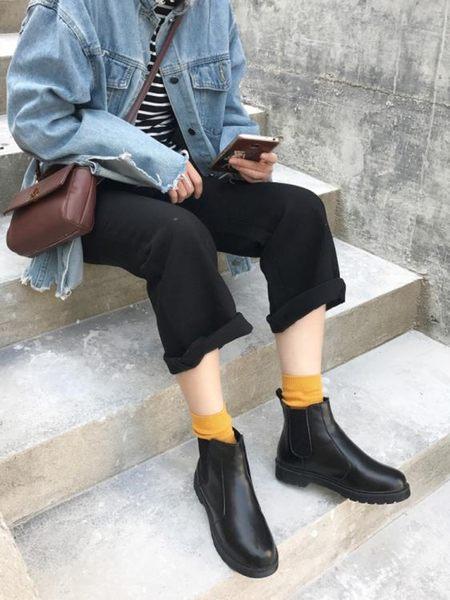 圓頭馬丁靴 短靴 切爾西靴機車靴