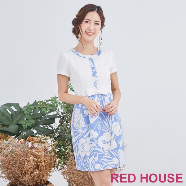 【RED HOUSE 蕾赫斯】花朵假兩件洋裝(共2色)