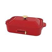 【南紡購物中心】【日本 BRUNO】多功能電烤盤 (紅色) BOE021 章魚燒 大阪燒 台灣公司貨