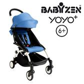 【現貨-第3代】法國 BABYZEN YOYO plus/YOYO+ 6m+嬰兒手推車(白骨架) 藍色